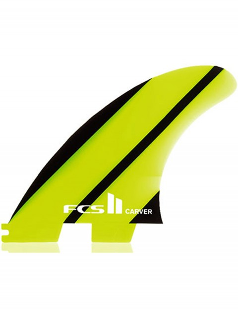 FCS II Carver Neo Glass Tri Fins Medium - Neon Green