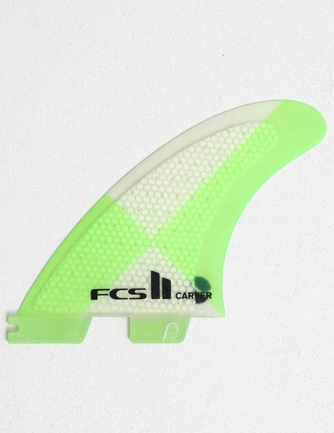 FCS II Carver Thruster PC Large Tri Fin Set - Green