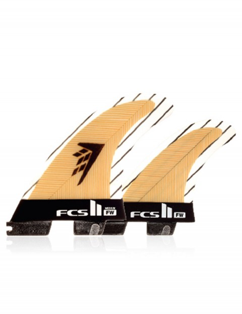 FCS II Firewire PC Carbon Tri-Quad Medium Five fin set - Natural Wood