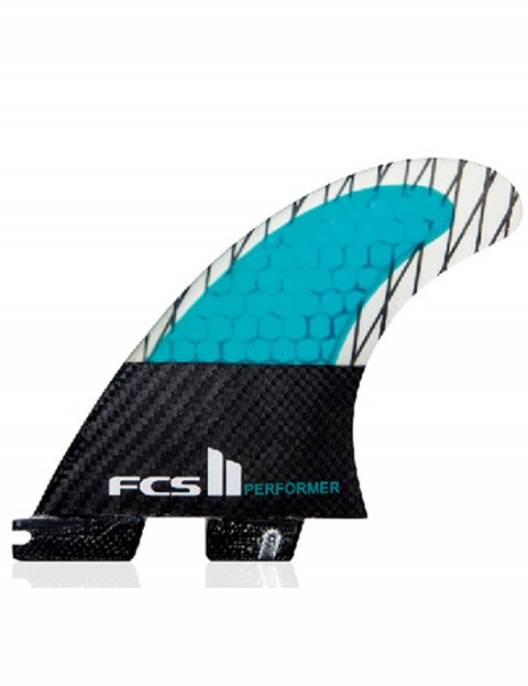 FCS II Performer Thruster PC Carbon X Large Tri Fin Set - Blue