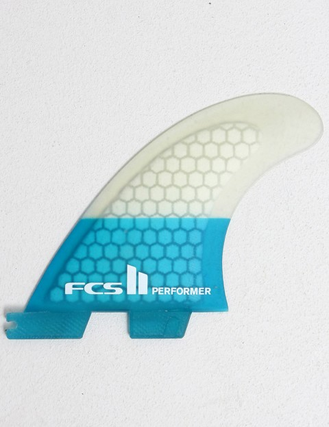 FCS II Performer Thruster PC Small Tri Fin Set - Blue