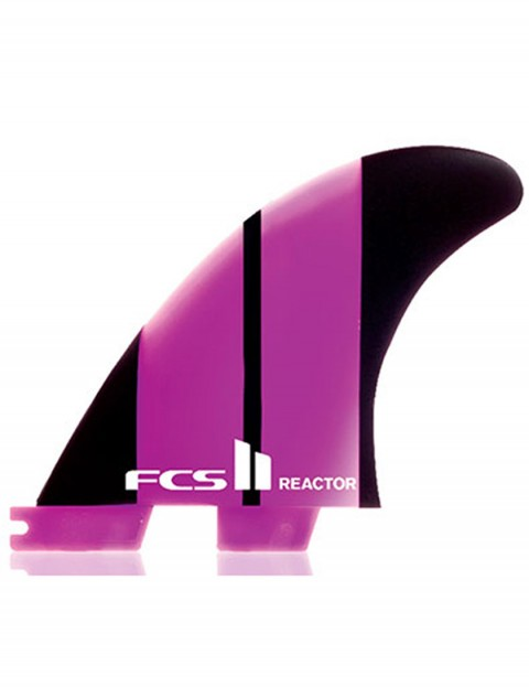 FCS II Reactor Thruster Neo Glass Medium tri Fin set - Neon Pink