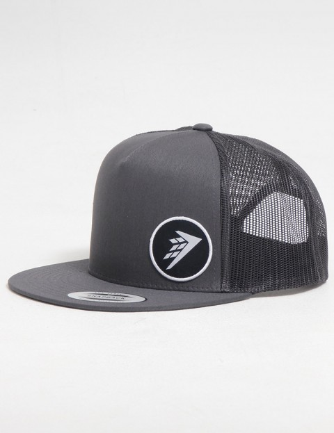Firewire Circle Icon Trucker Snapback cap - Dark Grey