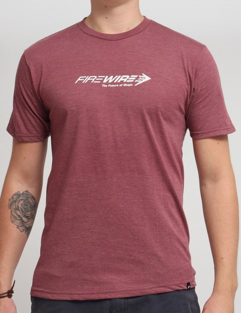 Firewire Future Of Shape T shirt - Burgundy Heather