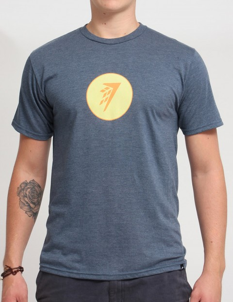 Firewire Circle Icon T shirt - Navy Heather