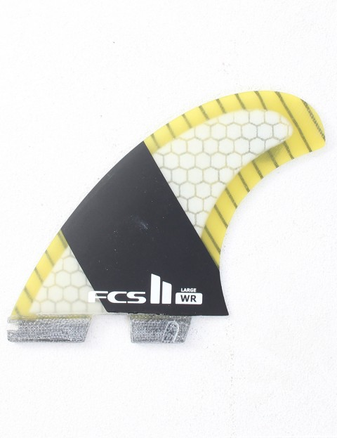 FCS II WR Stretch PC Carbon Quad Large Quad fin set - Yellow