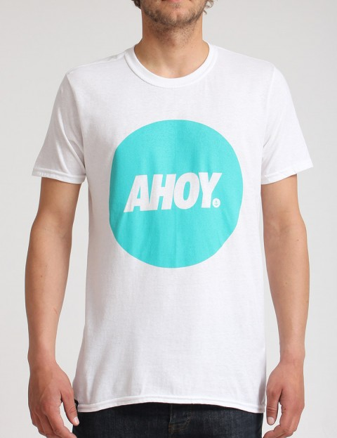 Hold Fast Ahoy Circle T shirt - White