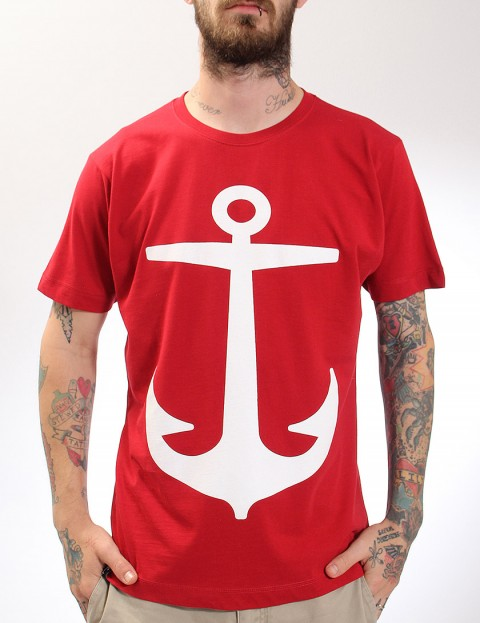 Hold Fast Anchor T-Shirt - Burgundy