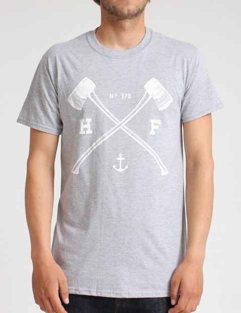 Hold Fast Axes Mk 2 T shirt - Marle Grey