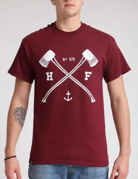 Hold Fast Axes Mk 2 T shirt - Merlot