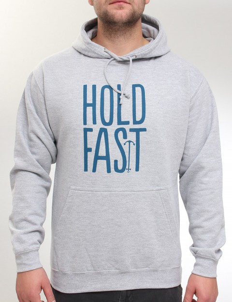 Hold Fast Logo Hoody - Heather Grey