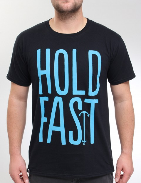 Hold Fast Logo T Shirt - Black