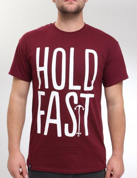 Hold Fast Logo T Shirt - Merlot