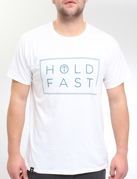 Hold Fast Neck Print T Shirt - White