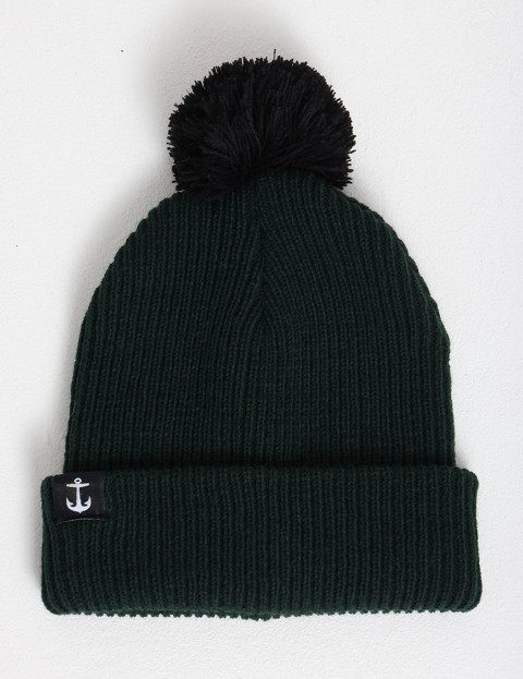 Hold Fast Pom-Pom Bobble beanie - Green/Black