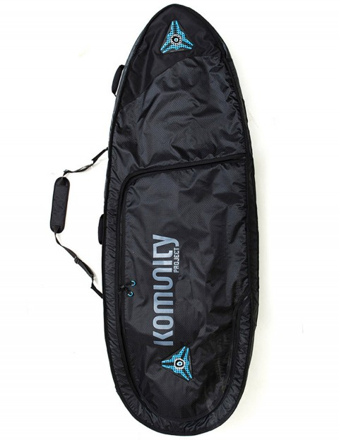 Komunity Project Kelly Slater Triple/Quad Lightweight 10mm Traveller 6ft 6 Surfboard bag - Black/Grey