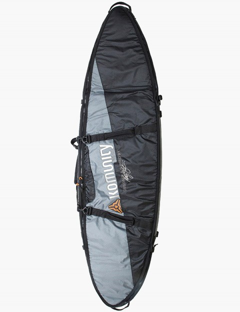 Komunity Project Stormrider Double Lightweight 10mm Traveller 6ft 6 Surfboard bag - Black/Grey