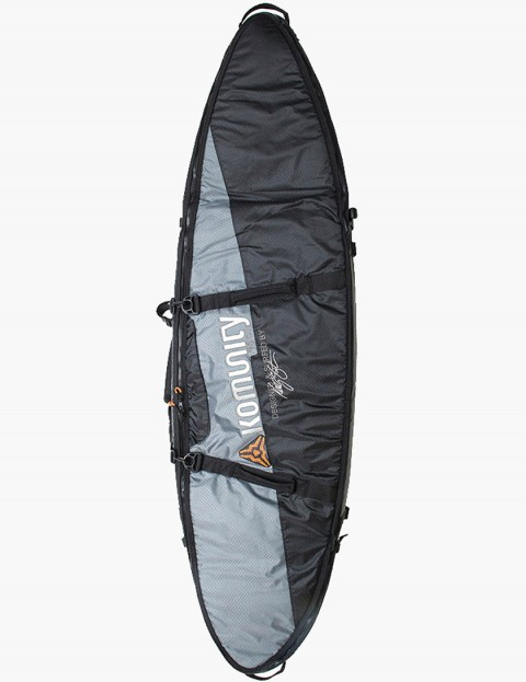 Komunity Project Stormrider Triple/Quad Lightweight 10mm Traveller Surfboard bag 7ft - Black/Grey
