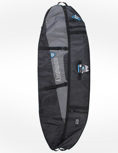 Komunity Project Stormrider Triple/Quad Lightweight 10mm Surfboard bag 7ft 6 - Black/Grey