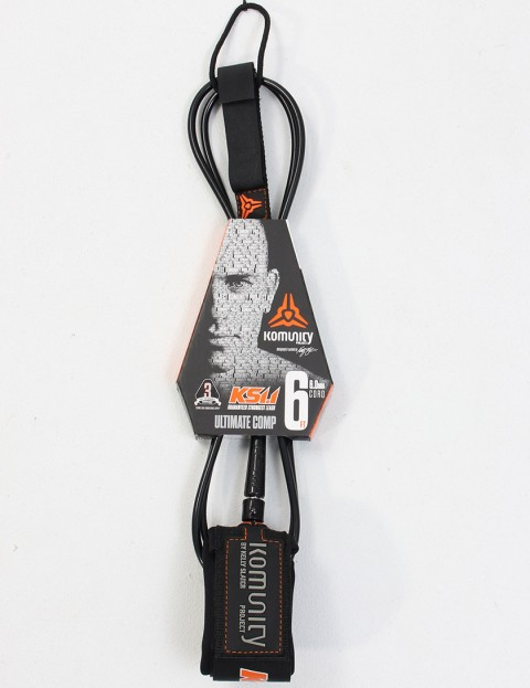 Komunity Project KS 1.1 Ultimate Comp 6ft Surf leash - Black