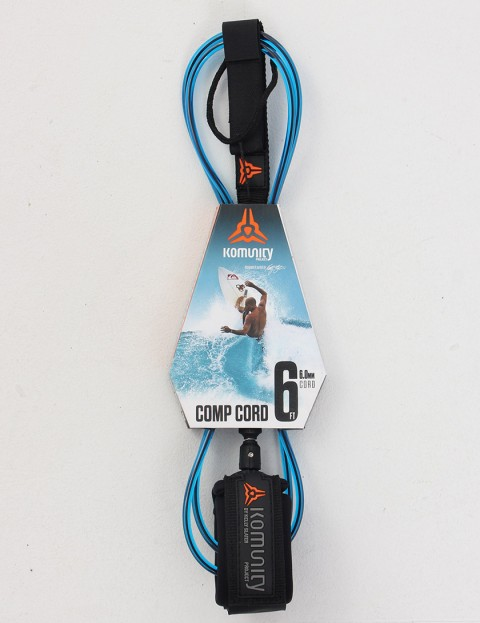 Komunity Project Comp Cord Surf leash 6ft - Blue