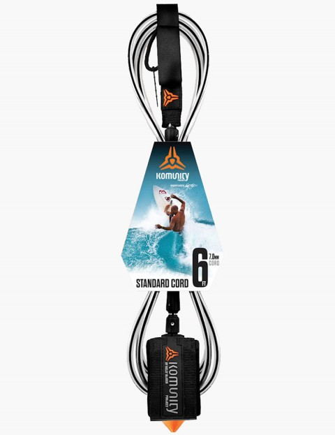 Komunity Project Standard Cord 6ft Surf leash - Black