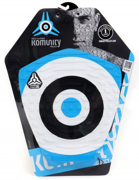 Komunity Project Bullseye Kelly Slater + Wax Comb Tail pad - Blue/White/Black