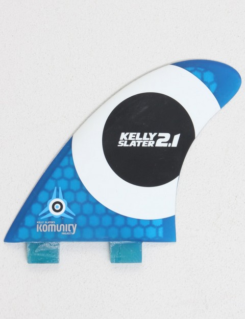 Komunity Project Kelly Slater 2.1 Thruster Honeycomb FCS Compatible Tri Fin Set - Blue