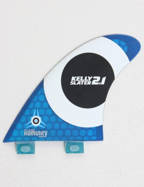 Komunity Project Kelly Slater 2.1 Quad Honeycomb FCS Compatible Quad Fin Set - Blue