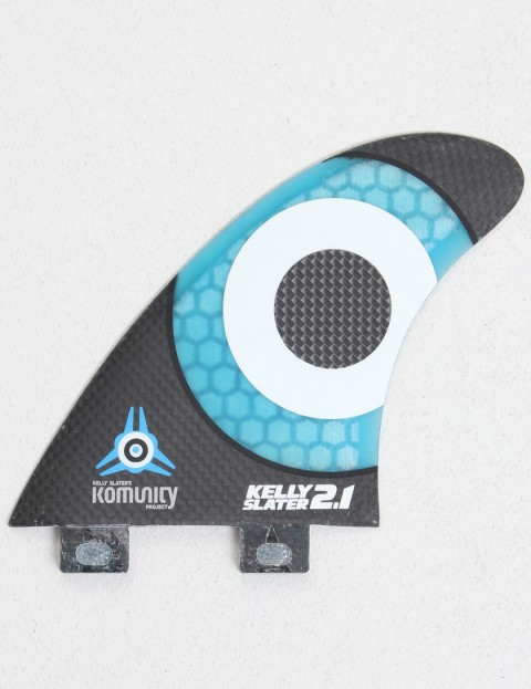 Komunity Project Kelly Slater 2.1 Quad Honeycomb Carbon FCS Compatible Quad Fin Set - Black/Blue