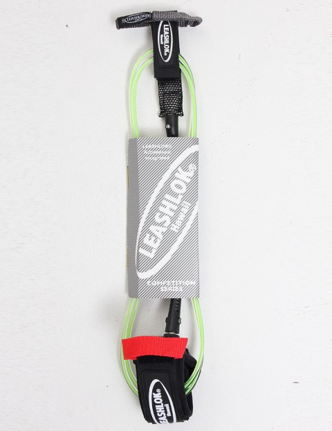 Leashlok Comp Series Surf Leash 6ft - Clear/Green