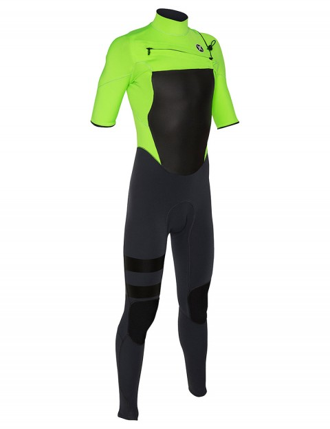 Hurley Fusion Short Sleeve Fullsuit 2/2mm Summer 2015 - Flash Lime