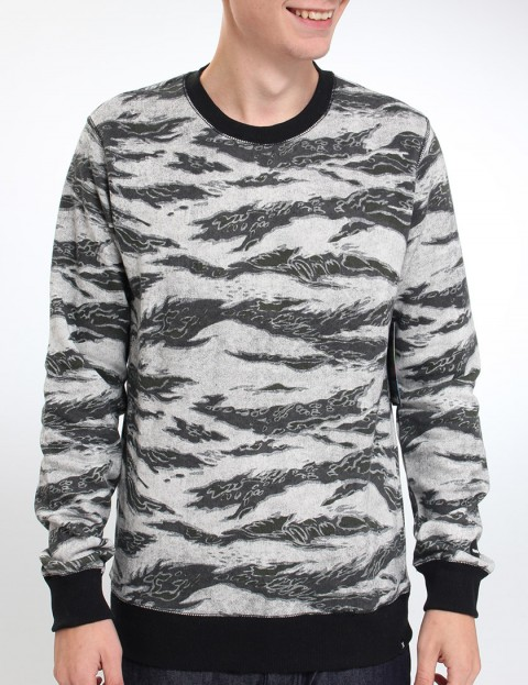 Hurley Flammo Crew sweat - Graphite