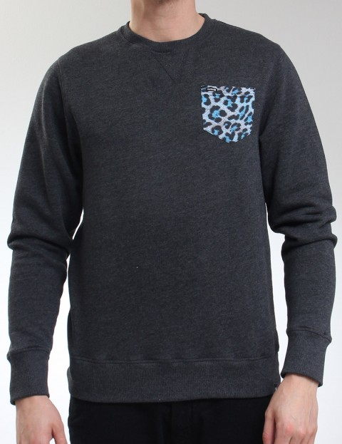 Hurley Elton Crew neck sweatshirt - Heather Black