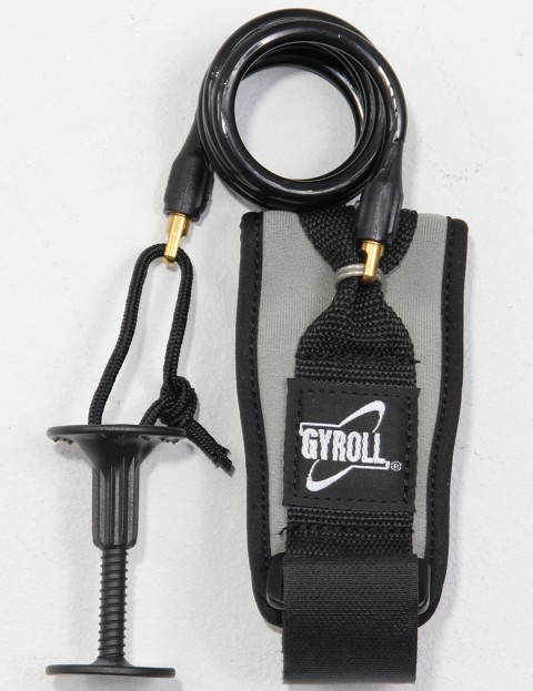 Gyroll Coiled Bicep Bodyboard leash - Black