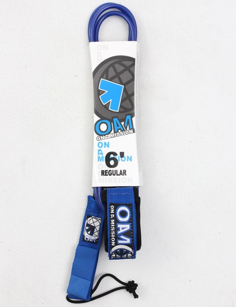 On A Mission Regular 6ft Surf leash - Blue