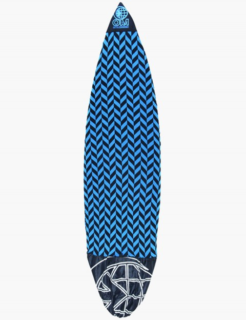 On A Mission Stretch Shortboard Surfboard sock 7ft 6 - Blue Herringbone