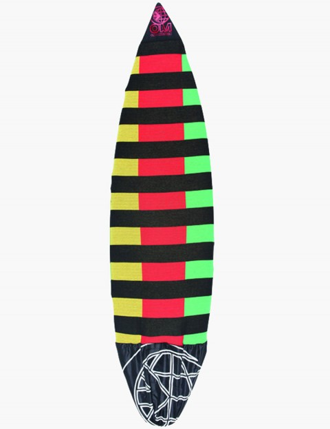 On A Mission Stretch Shortboard Surfboard sock 7ft 6 - Rasta