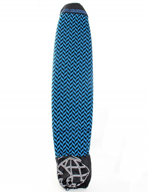 On A Mission Stretch Mal Surfboard sock 8ft 6 - Blue Herringbone