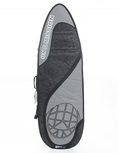 On A Mission Day Mission 6mm Surfboard bag 6ft - Black on Black