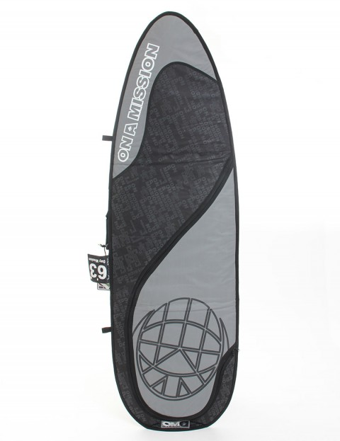 On A Mission Day Mission 6mm Surfboard bag 6ft 3 - Black On Black