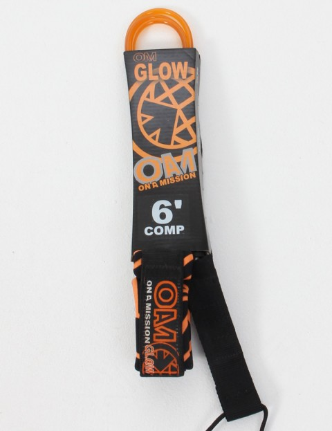 On A Mission Comp Surf leash 6ft - Orange Glow