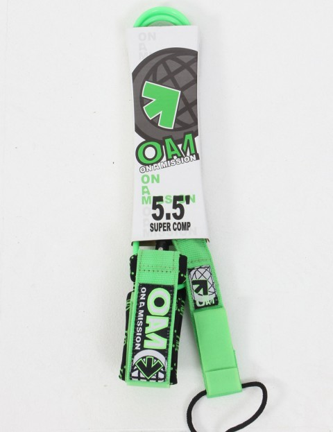 On A Mission Super Comp Surf leash 5ft 6 - Green Gucci