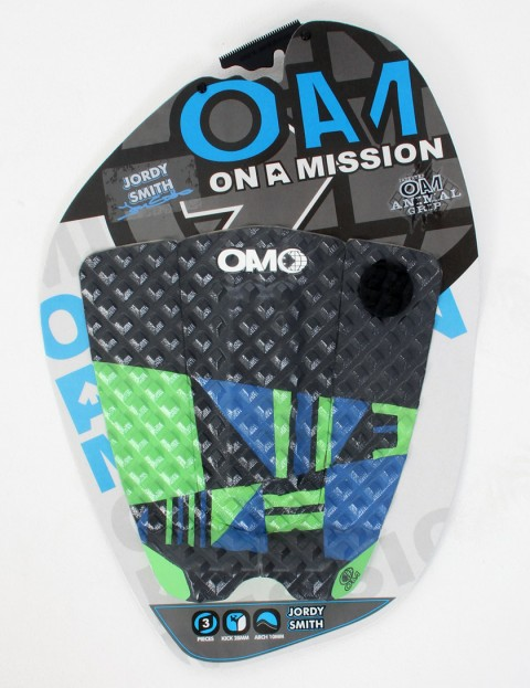 On A Mission Jordy Smith Tail pad - Blue/Lime Green