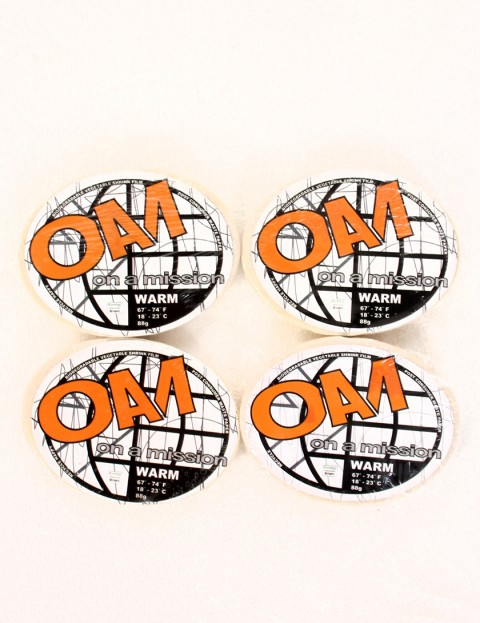 On A Mission Warm Water Wax Pack 4 Bars of surf wax - White