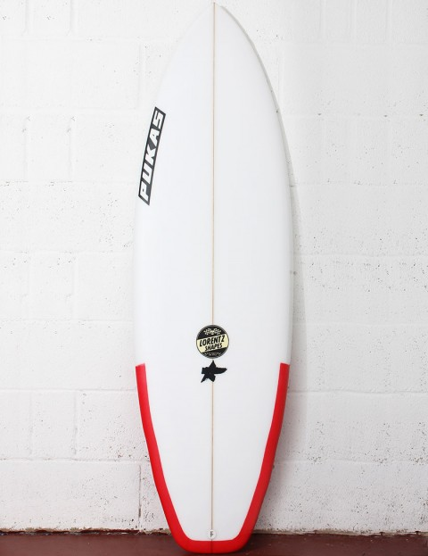 Pukas El Loco Surfboard 5ft 8 FCS II - Red