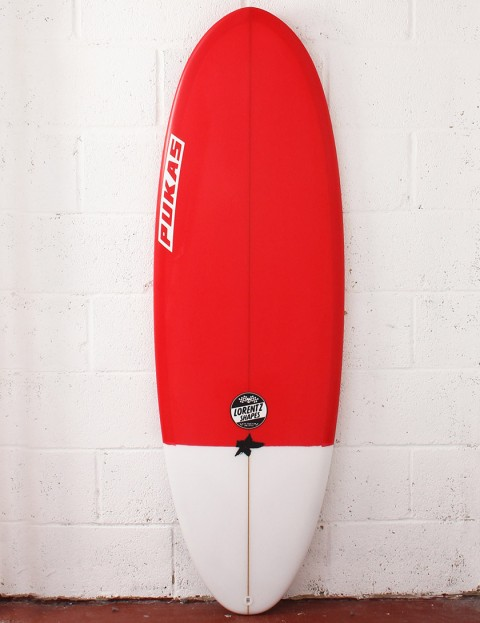 Pukas Resin Cake Surfboard 5ft 8 FCS II - Red