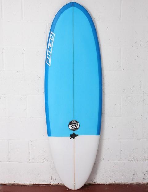 Pukas Resin Cake Surfboard 5ft 10 FCS II - Dark Blue