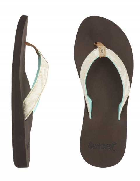 Reef Calidora Ladies flip flops - Natural Palms