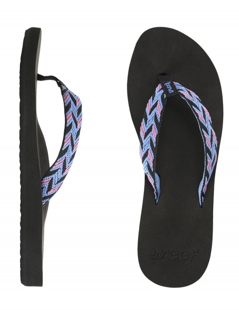 Reef Mid Seas Ladies flip flops - Black/Blue